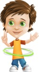Cool Boy Cartoon Vector Character AKA Jamie Just-Chill - Hoop