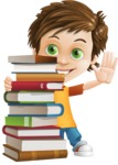 Cool Boy Cartoon Vector Character AKA Jamie Just-Chill - Books