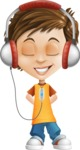 Cool Boy Cartoon Vector Character AKA Jamie Just-Chill - Music 3