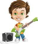 Cool Boy Cartoon Vector Character AKA Jamie Just-Chill - Music 4