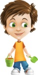 Cool Boy Cartoon Vector Character AKA Jamie Just-Chill - Beach 3