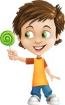 Cool Boy Cartoon Vector Character AKA Jamie Just-Chill - Candy