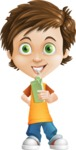 Cool Boy Cartoon Vector Character AKA Jamie Just-Chill - Shake