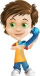 Cool Boy Cartoon Vector Character AKA Jamie Just-Chill - Phone