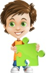 Cool Boy Cartoon Vector Character AKA Jamie Just-Chill - Puzzle