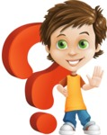 Cool Boy Cartoon Vector Character AKA Jamie Just-Chill - Question