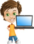Cool Boy Cartoon Vector Character AKA Jamie Just-Chill - Laptop 2