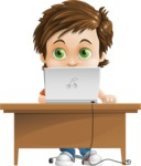 Cool Boy Cartoon Vector Character AKA Jamie Just-Chill - Laptop 3