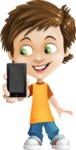 Cool Boy Cartoon Vector Character AKA Jamie Just-Chill - iPhone