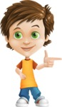 Cool Boy Cartoon Vector Character AKA Jamie Just-Chill - Point