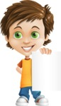 Cool Boy Cartoon Vector Character AKA Jamie Just-Chill - Sign 4