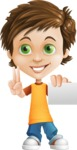 Cool Boy Cartoon Vector Character AKA Jamie Just-Chill - Sign 6