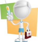 Little Vector 3D Kid Cartoon Character AKA Archie the Tidy Boy - Shape10
