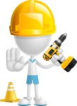 Little Vector 3D Kid Cartoon Character AKA Archie the Tidy Boy - Under Construction 2