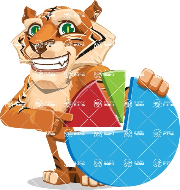 Cute Tiger Cartoon Vector Character AKA Tiger Bone - Chart