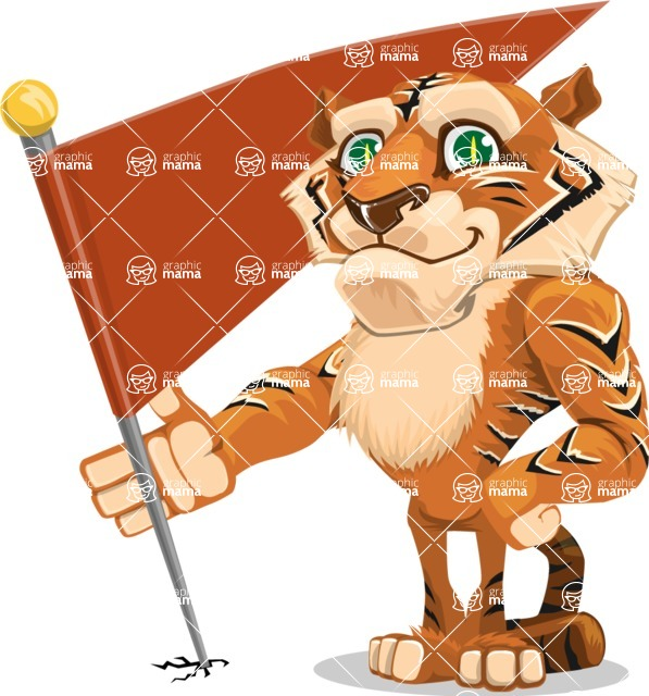 Cute Tiger Cartoon Vector Character AKA Tiger Bone - Checkpoint