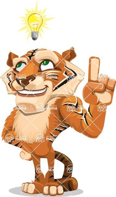 Cute Tiger Cartoon Vector Character AKA Tiger Bone - Idea 2