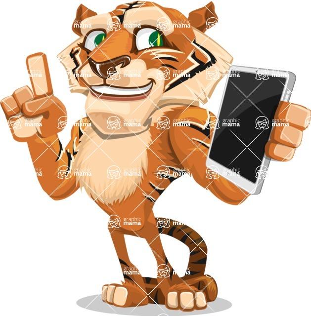 Cute Tiger Cartoon Vector Character AKA Tiger Bone - iPad 3