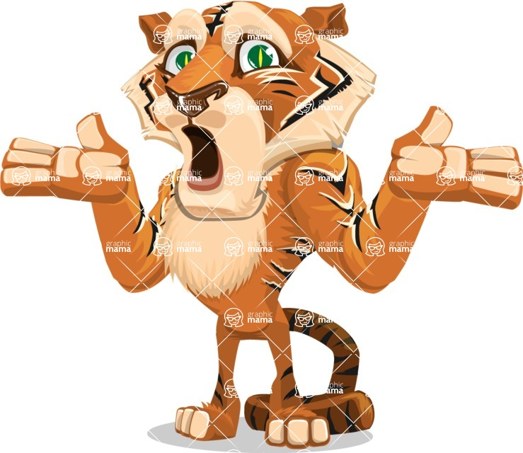 Cute Tiger Cartoon Vector Character AKA Tiger Bone - Lost