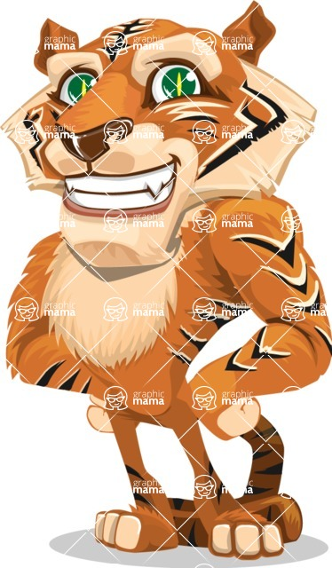 Cute Tiger Cartoon Vector Character AKA Tiger Bone - Normal
