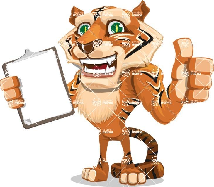 Cute Tiger Cartoon Vector Character AKA Tiger Bone - Notepad 1