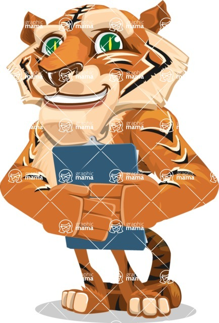 Cute Tiger Cartoon Vector Character AKA Tiger Bone - Notepad 2