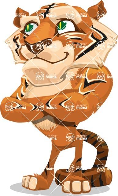 Cute Tiger Cartoon Vector Character AKA Tiger Bone - Petient