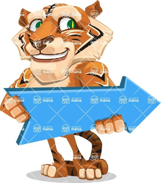 Cute Tiger Cartoon Vector Character AKA Tiger Bone - Pointer 2
