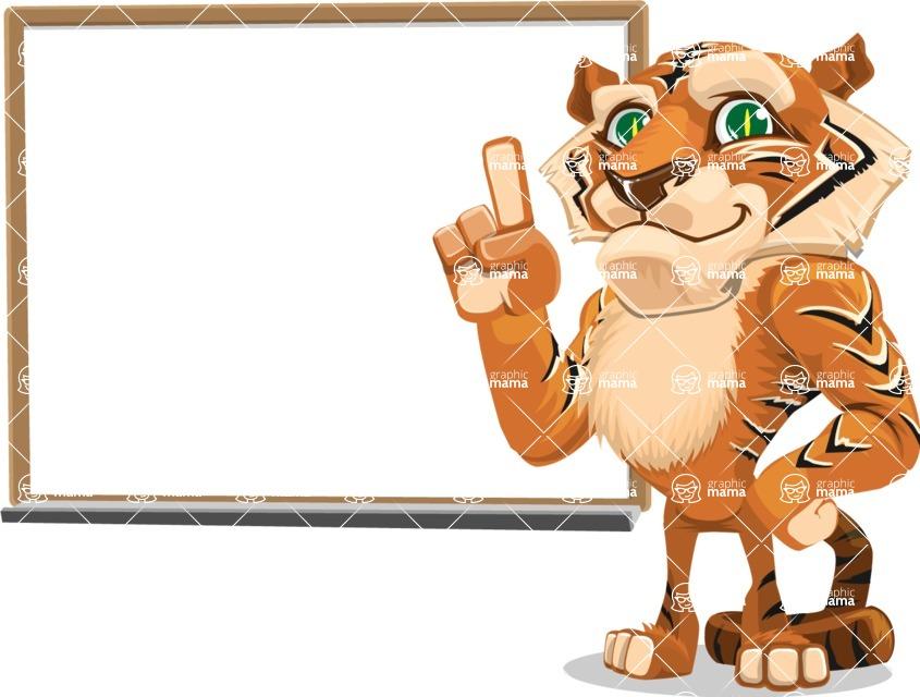Cute Tiger Cartoon Vector Character AKA Tiger Bone - Presentation 3