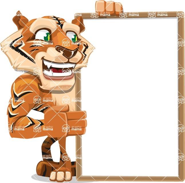 Cute Tiger Cartoon Vector Character AKA Tiger Bone - Presentation 4