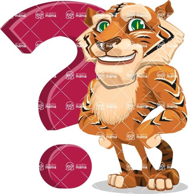 Cute Tiger Cartoon Vector Character AKA Tiger Bone - Question