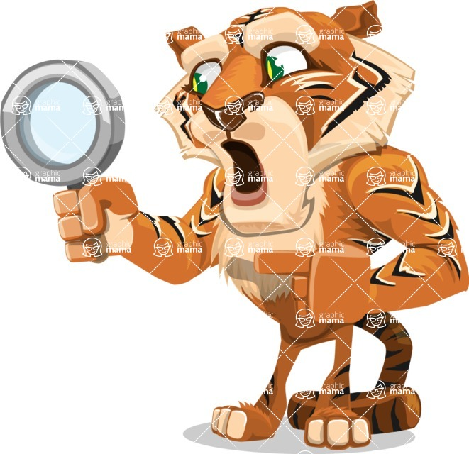 Cute Tiger Cartoon Vector Character AKA Tiger Bone - Search