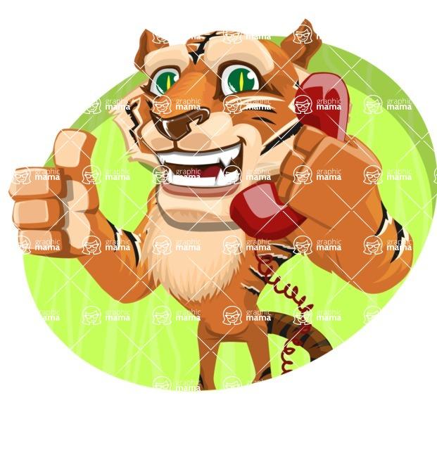 Cute Tiger Cartoon Vector Character AKA Tiger Bone - Shape 4