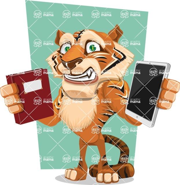 Cute Tiger Cartoon Vector Character AKA Tiger Bone - Shape 5