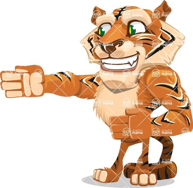Cute Tiger Cartoon Vector Character AKA Tiger Bone - Show 2