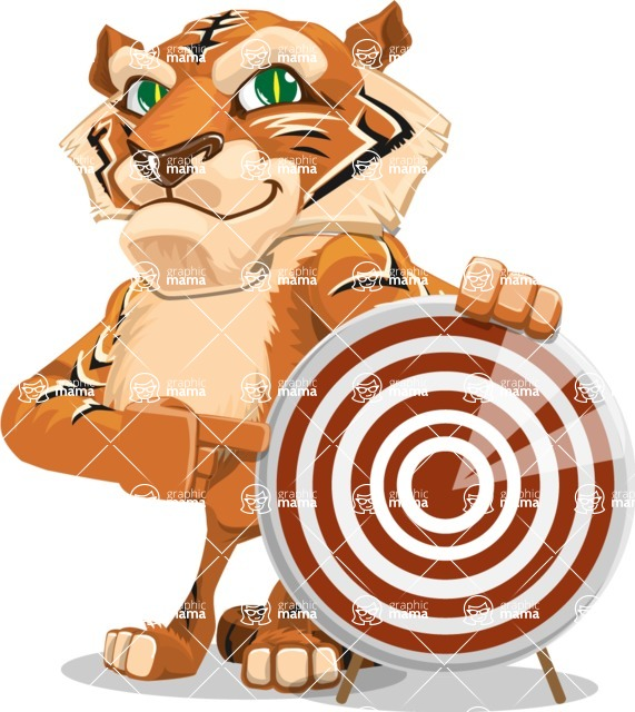 Cute Tiger Cartoon Vector Character AKA Tiger Bone - Target
