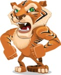 Cute Tiger Cartoon Vector Character AKA Tiger Bone - Angry