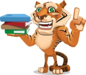 Cute Tiger Cartoon Vector Character AKA Tiger Bone - Book 2