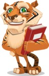 Cute Tiger Cartoon Vector Character AKA Tiger Bone - Book 3