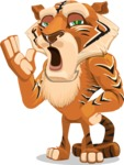 Cute Tiger Cartoon Vector Character AKA Tiger Bone - Bored 2