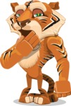 Cute Tiger Cartoon Vector Character AKA Tiger Bone - Bored