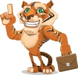Cute Tiger Cartoon Vector Character AKA Tiger Bone - Briefcase 2
