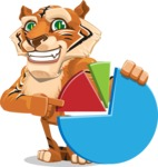 Cute Tiger Cartoon Vector Character AKA Tiger Bone - Chart