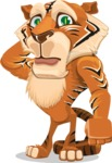 Cute Tiger Cartoon Vector Character AKA Tiger Bone - Confused