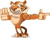 Cute Tiger Cartoon Vector Character AKA Tiger Bone - Direct Attention 2