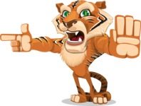 Cute Tiger Cartoon Vector Character AKA Tiger Bone - Direct Attention