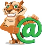 Cute Tiger Cartoon Vector Character AKA Tiger Bone - Email