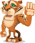 Cute Tiger Cartoon Vector Character AKA Tiger Bone - Goodbye