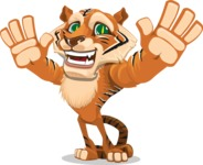 Cute Tiger Cartoon Vector Character AKA Tiger Bone - Hello
