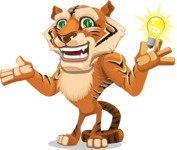 Cute Tiger Cartoon Vector Character AKA Tiger Bone - Idea 1